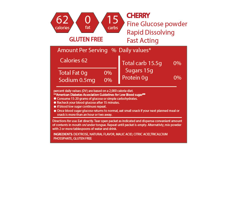 Elovate 15 Glucose Powder Raises Low Blood Sugar Fast